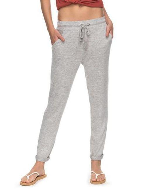 Roxy - Gray Cozy Chill Lounge Pants - Lyst