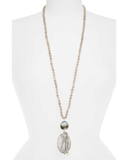 Chan Luu - Gray Grey Statement Necklace - Lyst