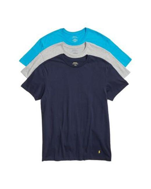 Polo Ralph Lauren - Multicolor Classic Fit Crewneck Cotton T-Shirt, (3-Pack) for Men - Lyst
