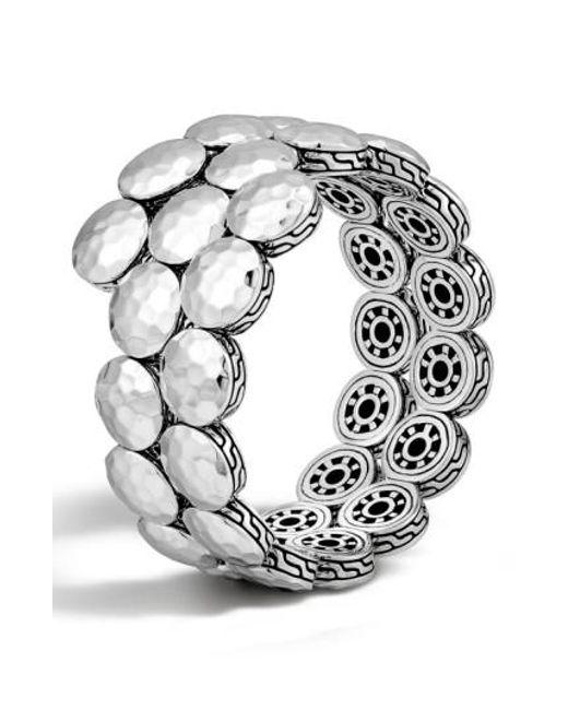 John Hardy | Metallic 'dot' Disc Double Coil Bracelet | Lyst