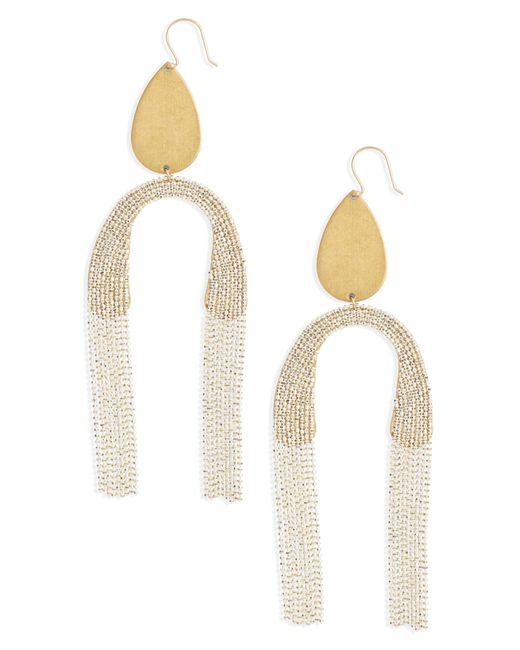 Serefina - White Fringe Drop Earrings - Lyst