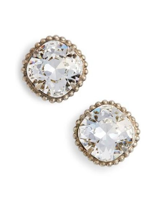 Sorrelli | Metallic Cushion Cut Solitaire Stud Earrings | Lyst