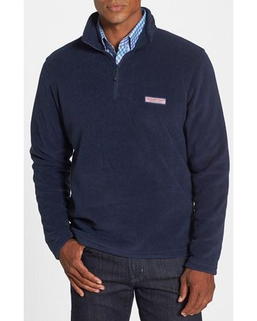 Vineyard Vines | Blue Polartec 100 Fleece Quarter Zip Pullover for Men | Lyst