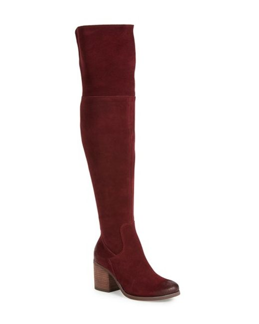 Hinge | Black Canton Over The Knee Boot | Lyst