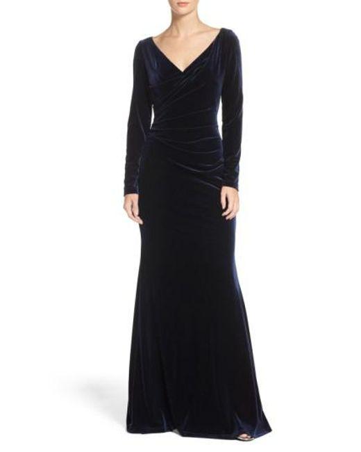 Vince Camuto | Blue Velvet Gown | Lyst
