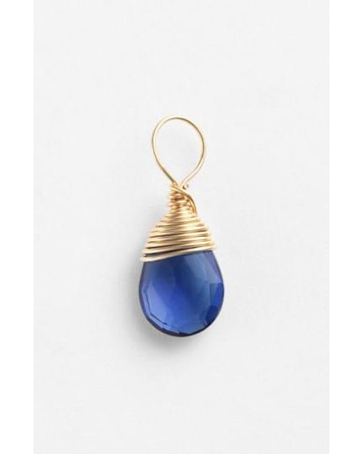 Nashelle | Blue 14k-gold Fill & Semiprecious Stone Charm | Lyst