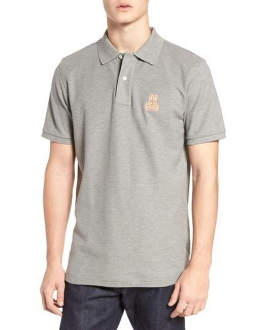 Psycho Bunny | Gray Alto Bunny Polo for Men | Lyst