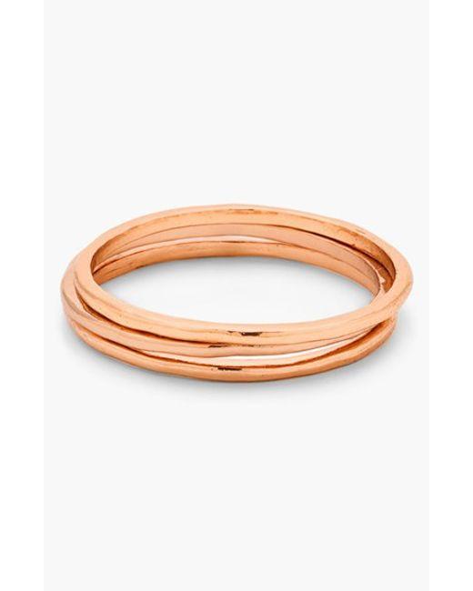 Gorjana   Pink 'g Ring' Rings (set Of 3)   Lyst