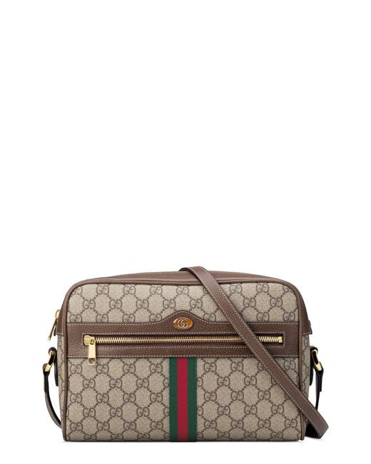 Gucci Natural Ophidia Gg Supreme Canvas Crossbody Bag