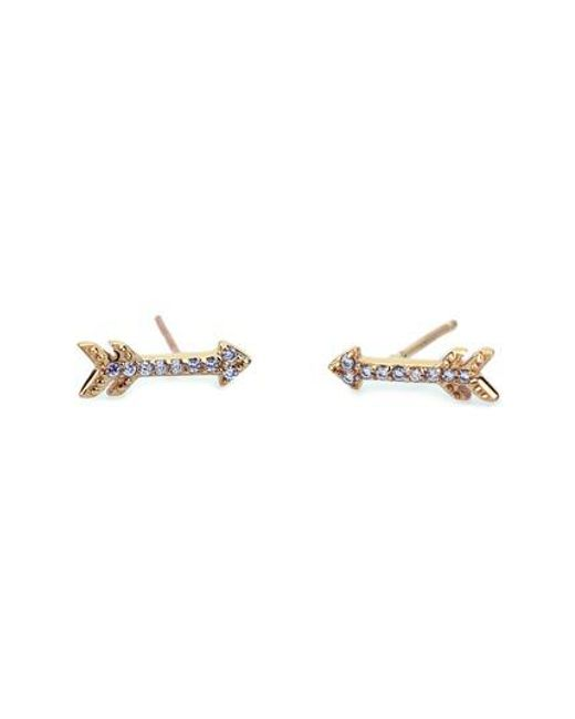 Kris Nations - Metallic Pave Arrow Stud Earrings - Lyst