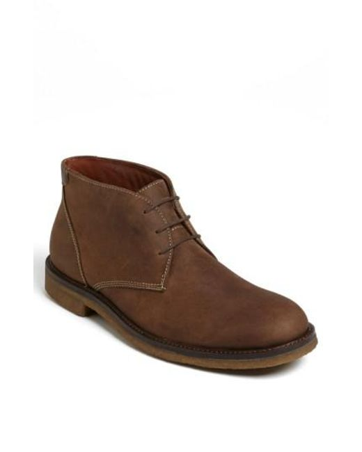 Johnston & Murphy - Brown 'copeland' Suede Chukka Boot for Men - Lyst