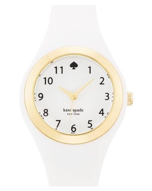 Kate Spade | White 'rumsey' Plastic Strap Watch | Lyst