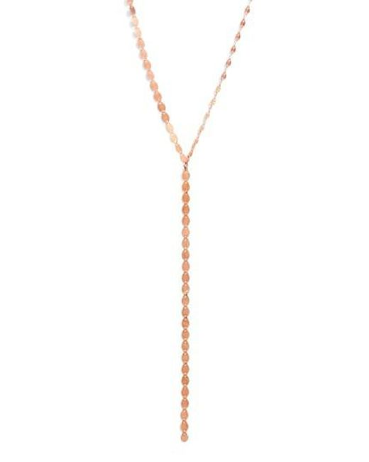 Lana Jewelry | Pink 'nude' Y-necklace | Lyst