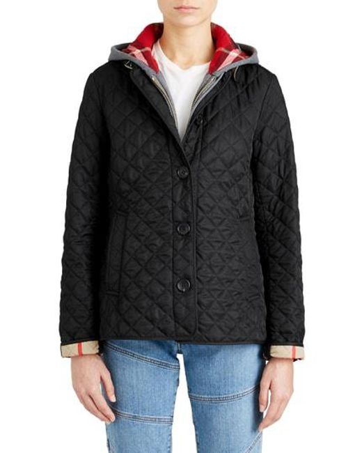 Burberry - Green 'ashurst' Quilted Jacket - Lyst