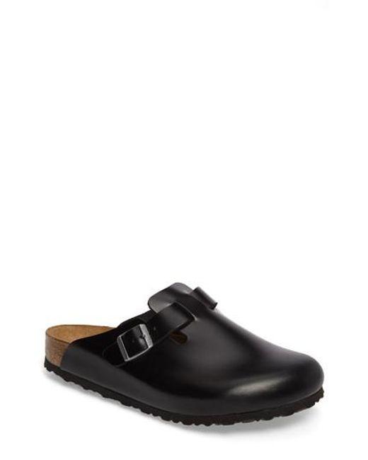 Birkenstock - Black 'boston Soft' Clog for Men - Lyst