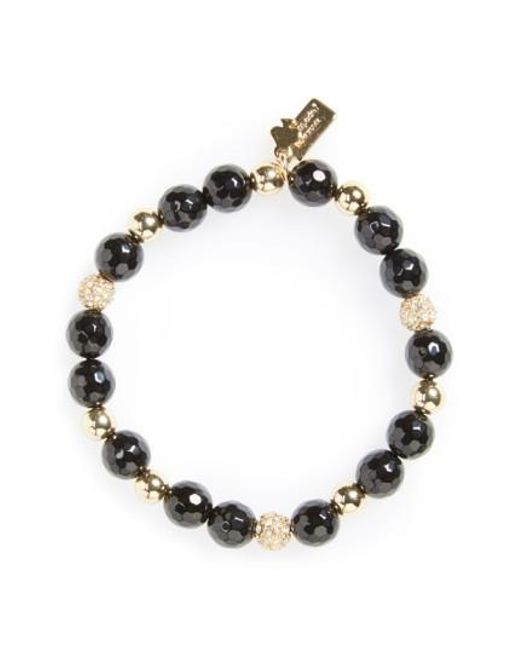 Kate Spade | Black Beaded Stretch Bracelet | Lyst