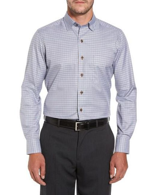 David Donahue | Brown Plaid Regular Fit Sport Shirt for Men | Lyst
