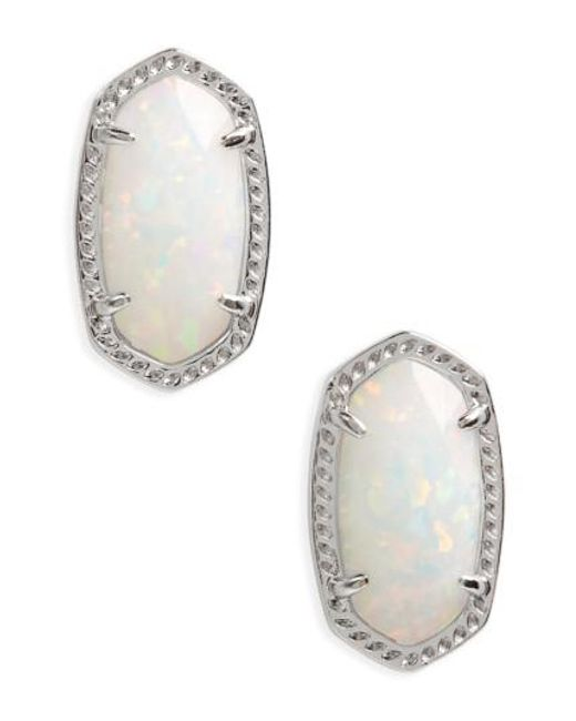 Kendra Scott   Metallic Ellie Oval Stud Earrings   Lyst