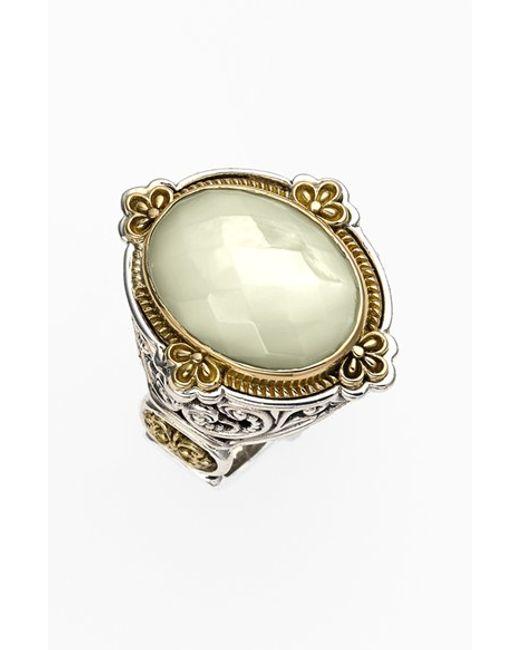 Konstantino | Metallic 'selene' Semiprecious Stone Ring | Lyst