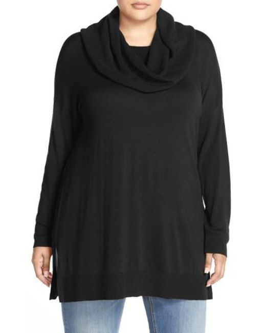 Caslon | Black Caslon Cowl Neck Tunic Sweater | Lyst