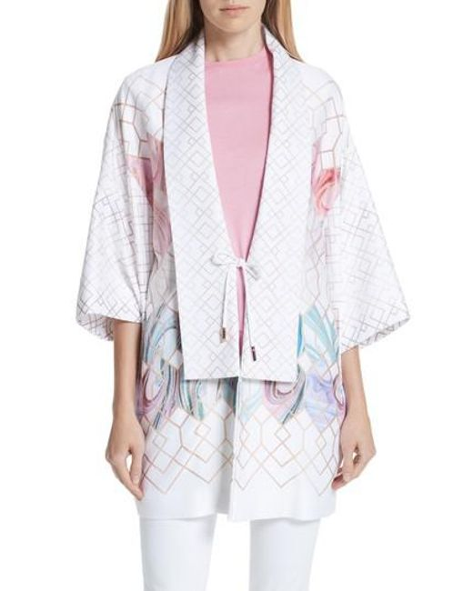 Ted Baker - White Koralle Sea Of Clouds Kimono - Lyst