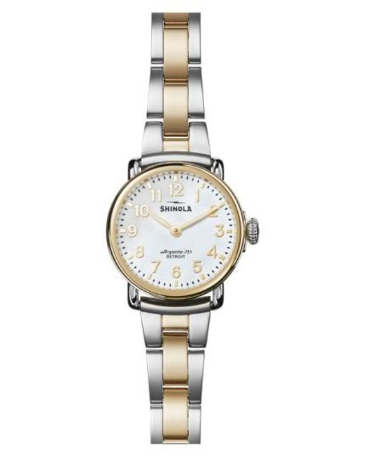 Shinola - Metallic Runwell Bracelet Watch - Lyst