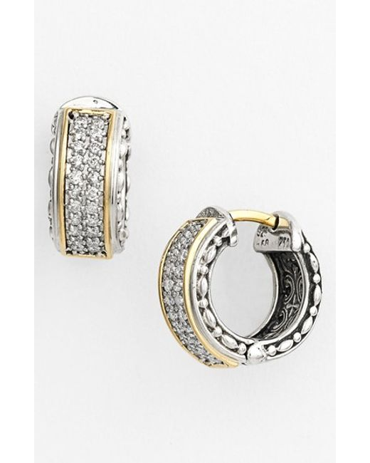 Konstantino | Metallic 'diamond Classics' Small Hoop Earrings | Lyst