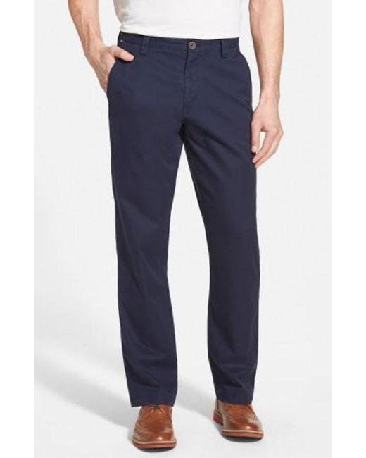 Cutter & Buck - Blue Beckett Straight Leg Washed Cotton Pants for Men - Lyst