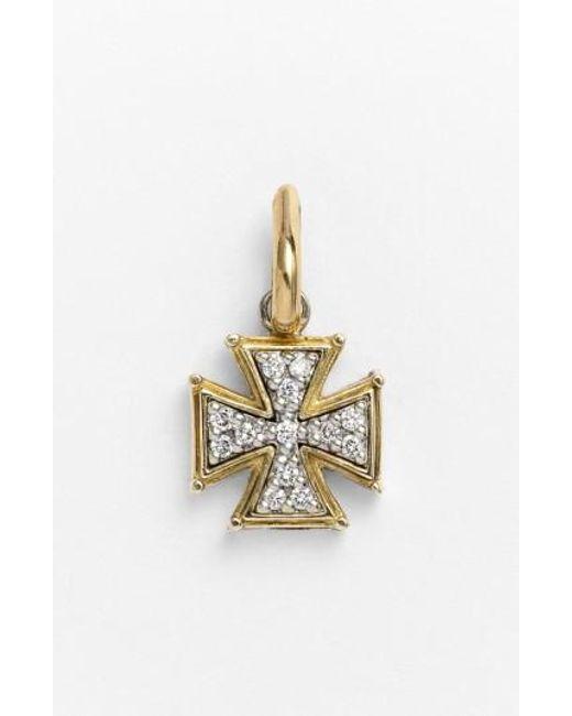 Konstantino | Metallic 'classics' Diamond Cross Charm | Lyst