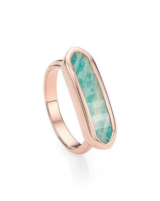 Monica Vinader - Green 'baja' Stone Ring - Lyst