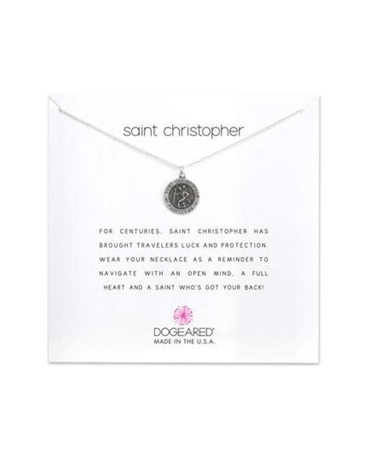 Dogeared | Metallic St. Christopher Pendant Necklace | Lyst