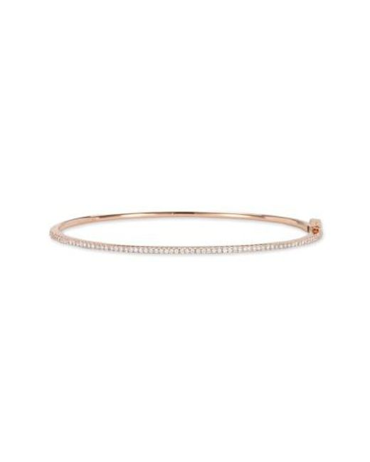 Bony Levy - Metallic Skinny Diamond Bangle (nordstrom Exclusive) - Lyst