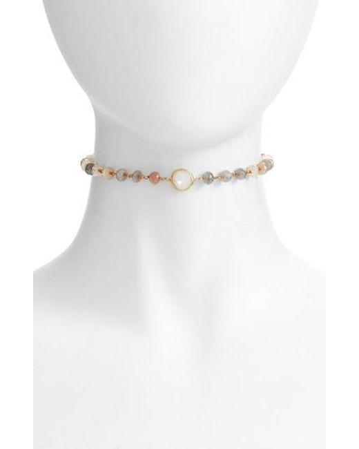 Ela Rae | White Libi Grand Choker Necklace | Lyst
