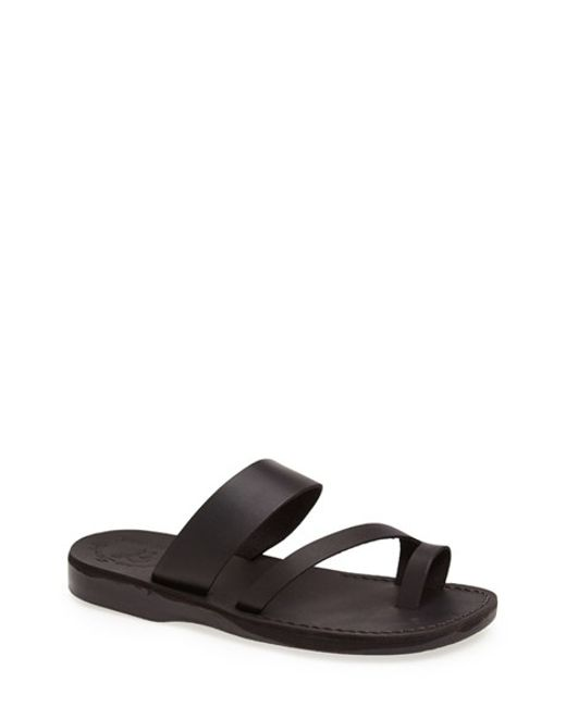 Jerusalem Sandals | Black 'zohar' Leather Sandal for Men | Lyst