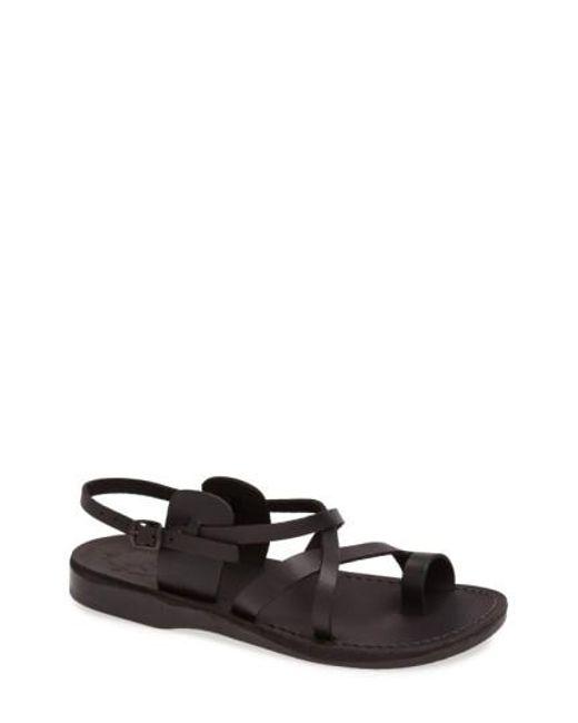 Jerusalem Sandals | Black 'the Good Shepherd' Leather Sandal for Men | Lyst