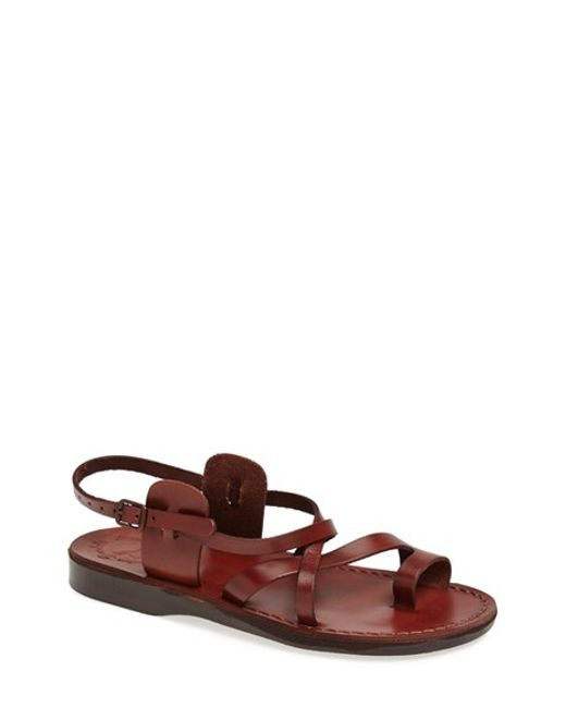Jerusalem Sandals | Brown 'the Good Shepherd' Leather Sandal for Men | Lyst