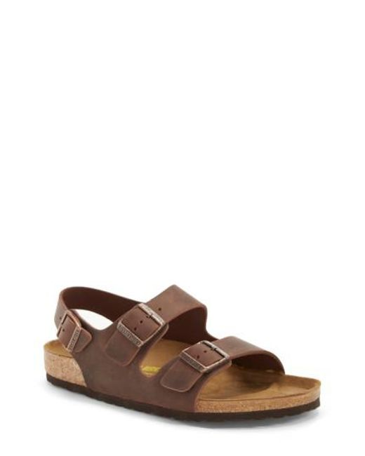 Birkenstock - Brown 'milano' Sandal for Men - Lyst