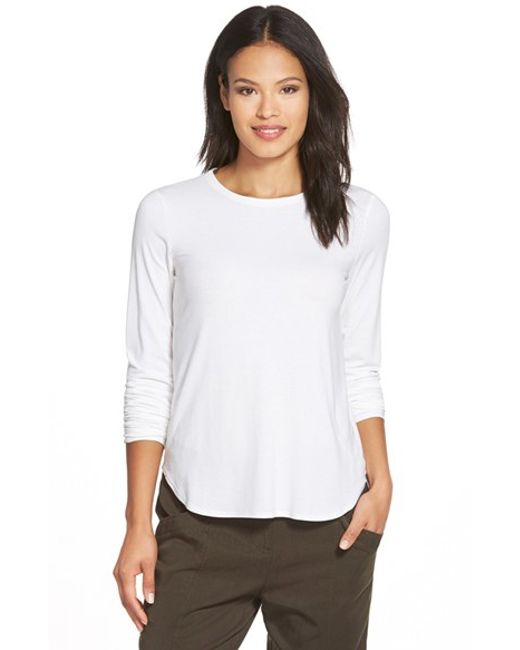 Eileen Fisher | White Crewneck Top | Lyst