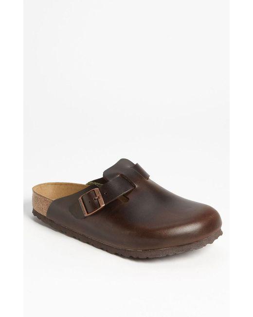 Birkenstock - Brown Boston Soft Clog for Men - Lyst