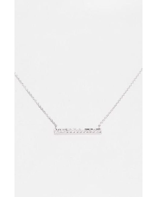 Dana Rebecca - Metallic 'sylvie Rose' Medium Diamond Bar Pendant Necklace - Lyst