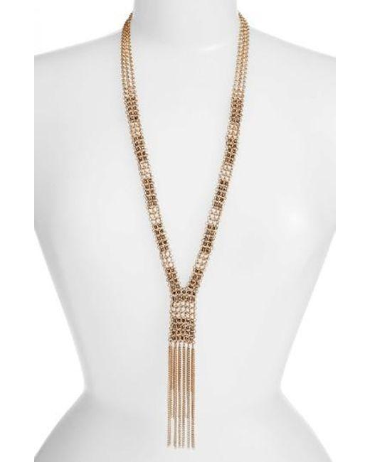 Treasure & Bond | Metallic Long Y-necklace | Lyst