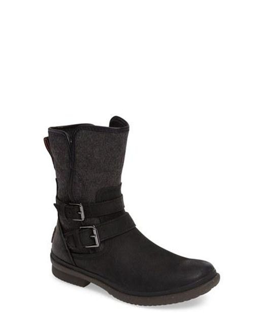 Ugg | Black Ugg 'simmens' Waterproof Leather Boot | Lyst