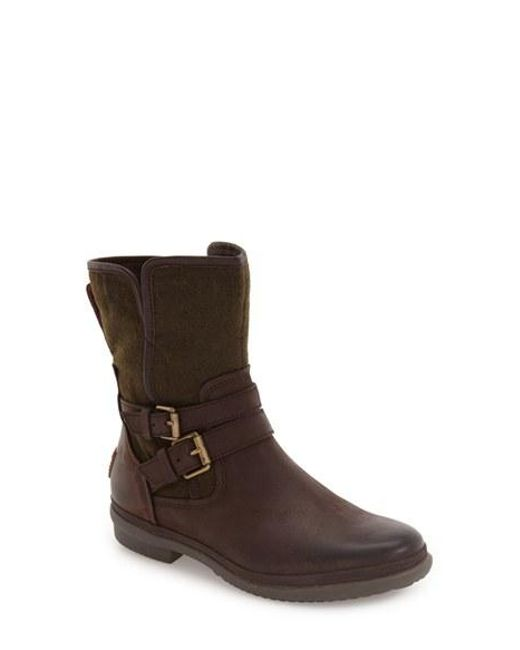 Ugg | Brown Ugg 'simmens' Waterproof Leather Boot | Lyst