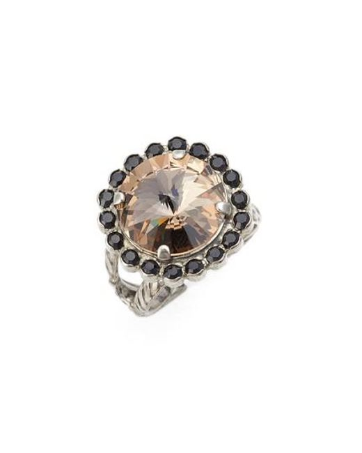 Sorrelli - Black Haute Halo Cocktail Ring - Lyst