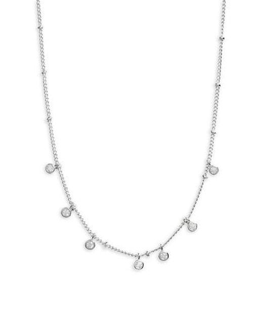 Melanie Auld - Metallic Floating Disc Collar Necklace - Lyst