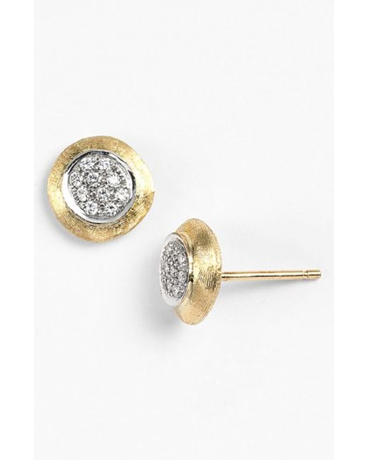Marco Bicego | Yellow 'delicate' Diamond Stud Earrings | Lyst