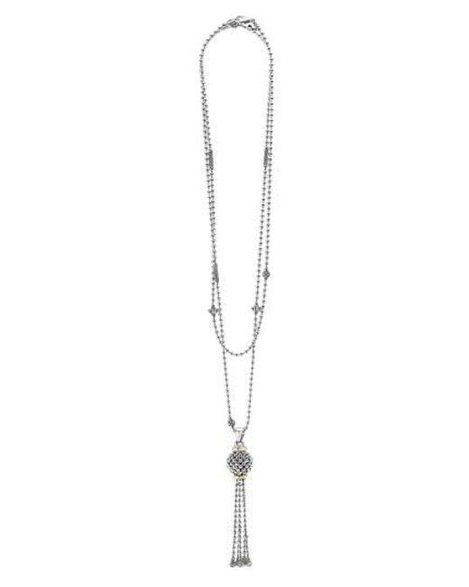 Lagos - Metallic 'caviar Forever' Tassel Pendant Necklace - Lyst