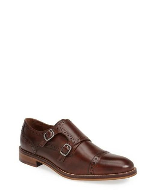 Johnston & Murphy | Brown 'conard' Double Monk Strap Slip-on for Men | Lyst