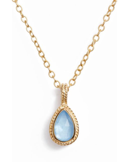 Anna Beck - Metallic Small Stone Pendant Necklace - Lyst