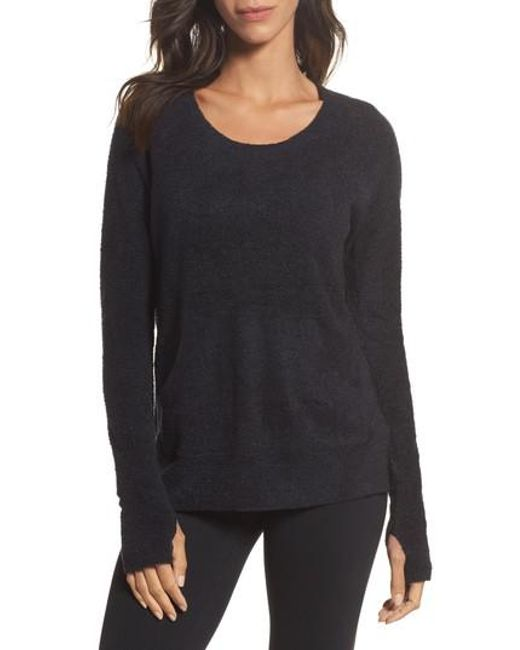 Barefoot Dreams | Black Barefoot Dreams Cozychic Lite Pullover | Lyst